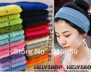 Free shipping mixed order over 10usd Fashion Solid Color Yoga Athletic Hairband  Hair Accessories