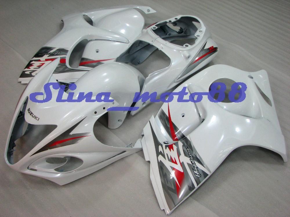 plastica abs suzuki hayabusa gsx1300r 2008-2012 bianco carene stampi a iniezione fit per hayabusa gsx1300r 08-12 carena zz07(China (Mainland))