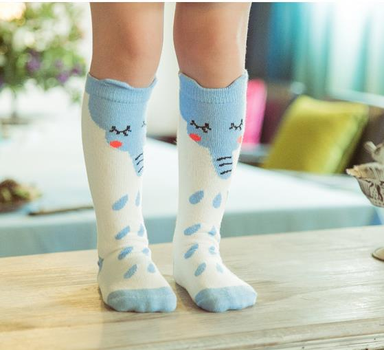 2015 0-6 years cut elephant cartoon baby socks cotton winter warm leg warmers newborn knee socks kids Non-slip Socks hot sale