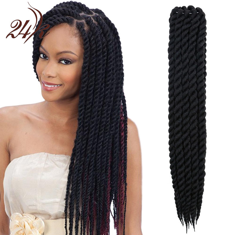 Crochet Hair Wholesale : Mambo Twist Crochet Braids Hair 22 Inch Senegalese Synthetic Crochet ...
