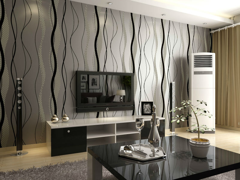 Amazing Grey Wallpaper Living Room Design Ideas With Houzz Gray