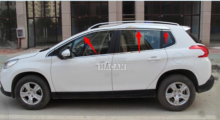 Peugeot 2008 High quality stainless steel Car window trim strip(6pcs)<br><br>Aliexpress