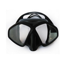 Frameless diving mask Black silicone scuba diving mask Tempered glass Adult snorkel mask Top frameless scuba diving gears(China (Mainland))