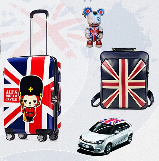 Gotrip hyraxes trolley luggage british style classic torx flag abs pc vintage aircraft wheel trolley luggage(China (Mainland))