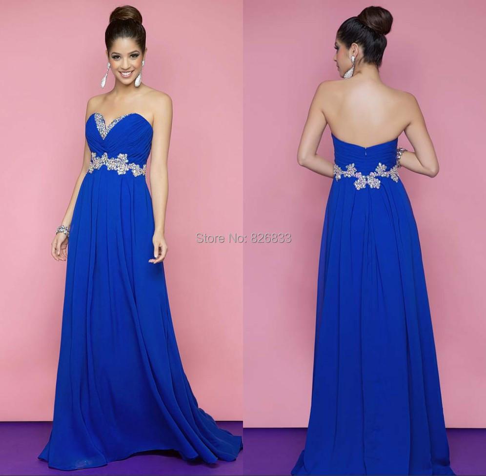 great blog robe robe de soiree bleu roi longue. Black Bedroom Furniture Sets. Home Design Ideas