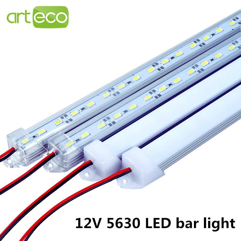 2pcs/lot DC12V 5630 LED Bar light 5630 with PC cover 50cm/36leds LED Rigid light 5630 white/warm white/red/green/blue/cold white(China (Mainland))