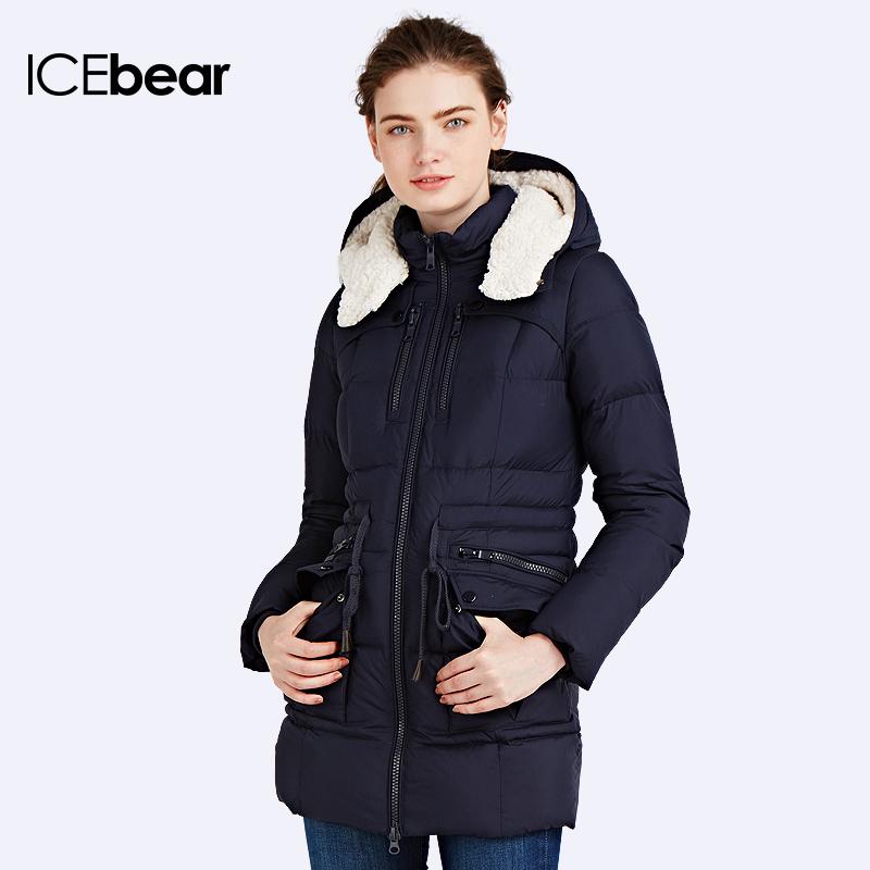 ICEbear 2016 Winter Women Regular Thickening Warm Collars Cotton Padded female Jacket and jackets women's Down Coat 16G667(China (Mainland))