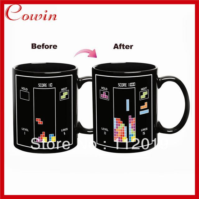 Free shipping New Thermal building block change color cup Iskander Mukhamadeyev Heat Change Ceramic Mug creative gift mug
