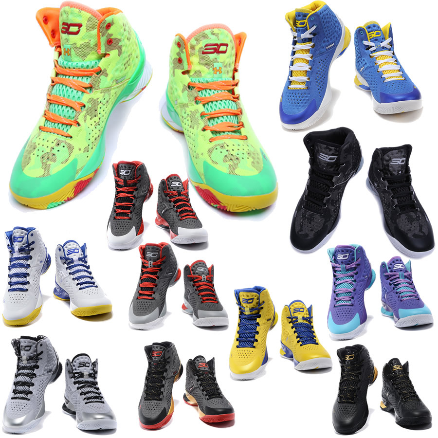 2015 New Best quality Christmas Stephen Curry 1 One Basketball Shoes For Men Curry Shoes Cheap Sale Free Shipping With Shoebox(China (Mainland))