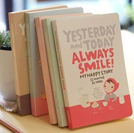 AMLBJB001-Wholesales FREE SHIPPING 16.5*10.5cm cute red hat girl 4 types notebook(1piece)(China (Mainland))
