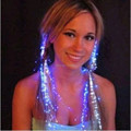 10pcs lot Light Up Hair Extension Flash glowing LED Braid Novelty Decoration for Party Holiday Hair