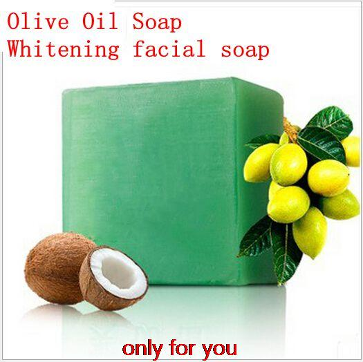 Olive Oil Soap For Moisturizing Face and Body High Quality Transparent Soap For Clean Pores and Whitening facial SOAP 100g(China (Mainland))