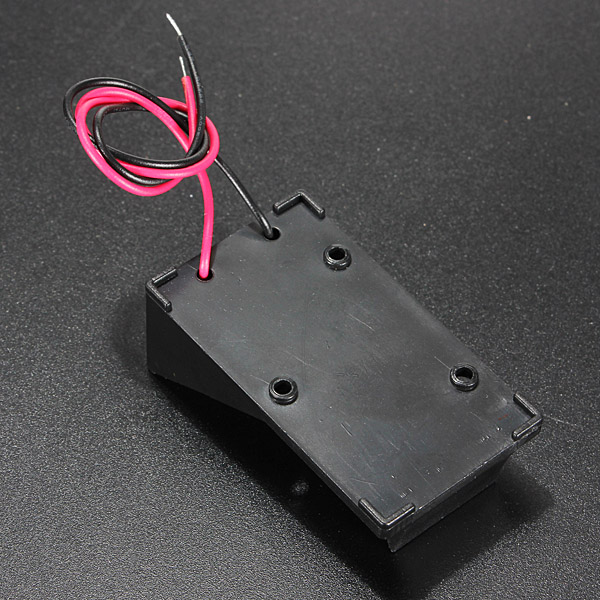 2016 Hot Single Wired Lead Battery Holder Case Box 9V 6LR61 x1 Model / DIY / Toy / RC UK(China (Mainland))
