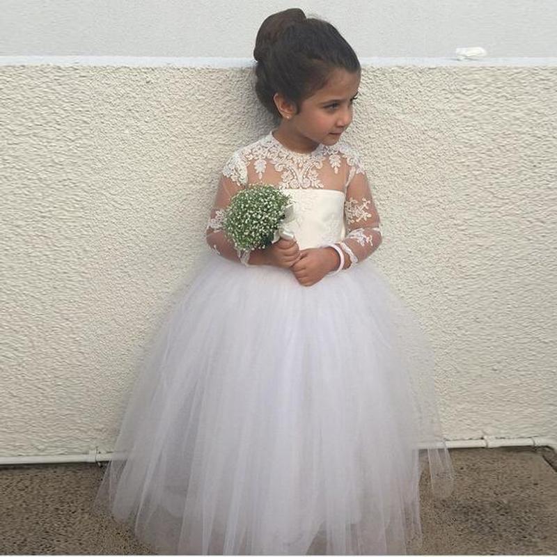 Flower Girl Dresses With Sleeves - Flower
