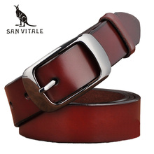 Buy SAN VITALE New Designer Fashion Women's Belts Genuine Leather Brand Straps Female Waistband Pin Buckles Fancy Vintage Jeans for $9.03 in AliExpress store