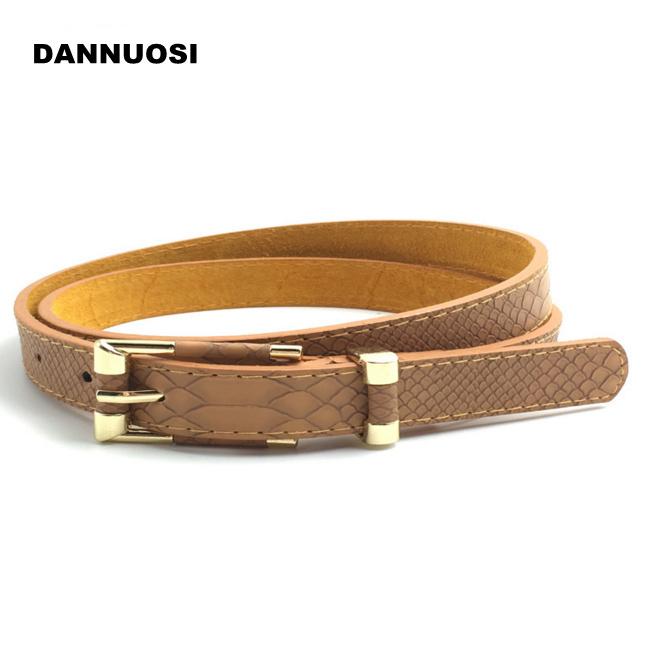 [DANNUOSI]Ms. serpentine fashion belt thin female Korean leather bottom belt leather belt female models fashion wild belt(China (Mainland))
