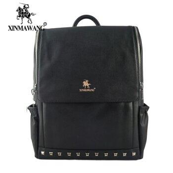 New Rivet Europe And Soft Leather Shoulder Bag Fashion Travel Bag High Quality Shoulder Women Backpack Mochila<br><br>Aliexpress