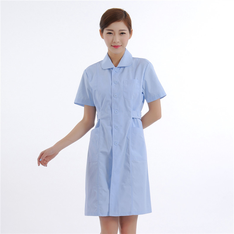 New Women Medical Lab Coats Quality Doctor Nurse Uniform Hospital Nursing Scrub Overalls Short Sleeve Pharmist Workwear A12