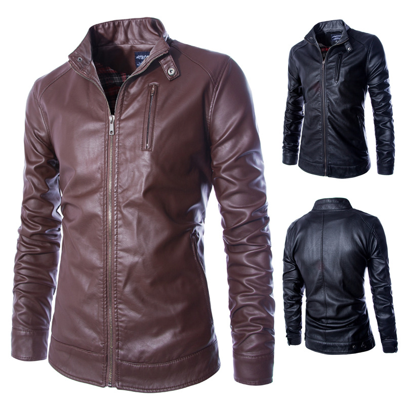 2015 newest boutique motorcycle leather jacket washed leather collarОдежда и ак�е��уары<br><br><br>Aliexpress