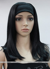 >****^^ fast SHIPPING Hot heat resistant Party hair>>>>>Black Medium long Straight women Daily 3/4 half wig - Liyue Ji's store