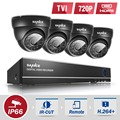 SANNCE 4CH HD 1080N security camera system 4IN1 DVR 4pcs 720P CCTV Cameras P2P Outdoor Waterproof