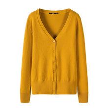 SEMIR вязаный женский свитер кардиган 2019 Весна простой сплошной прямой низ одежда свитер модный кардиган для женщин(China)