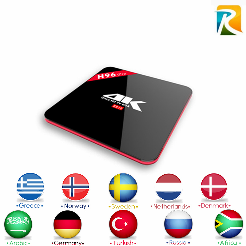 Arabic Royal IPTV Arabic IPTV H96 Pro S912 Android 6.0 TV box LiveTV iptv french africa sky italy UK DE arabic iptv Smart tv Box