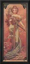 High quality,Printemps, 1900,Alphonse Mucha oil painting canvas,Hand-painted,Portrait Modern Art Reproduction,