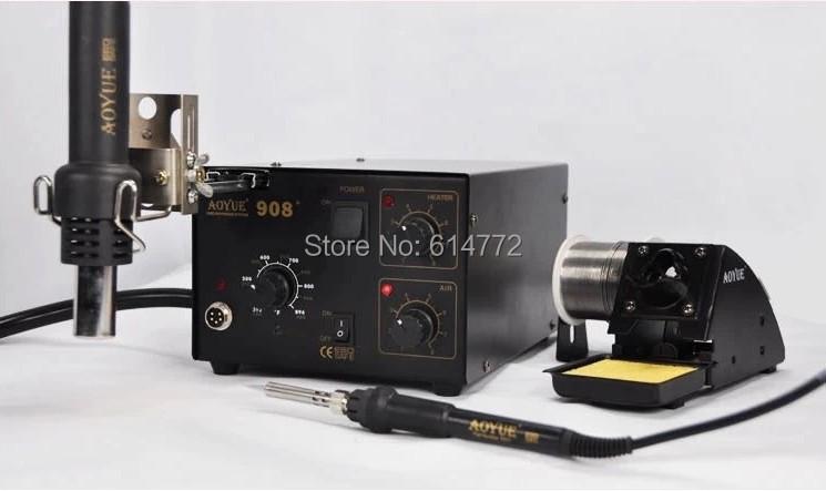 AOYUE 908+ soldering station Soldering iron heat gun combined(China (Mainland))