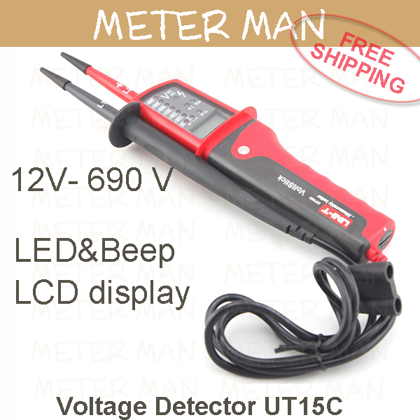 High Voltage Detector With Display : Pen type voltage detector with torch led quot lcd display