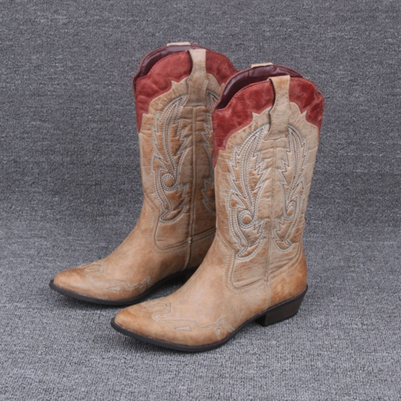western cowboy boots pointed toe boots plus size 6