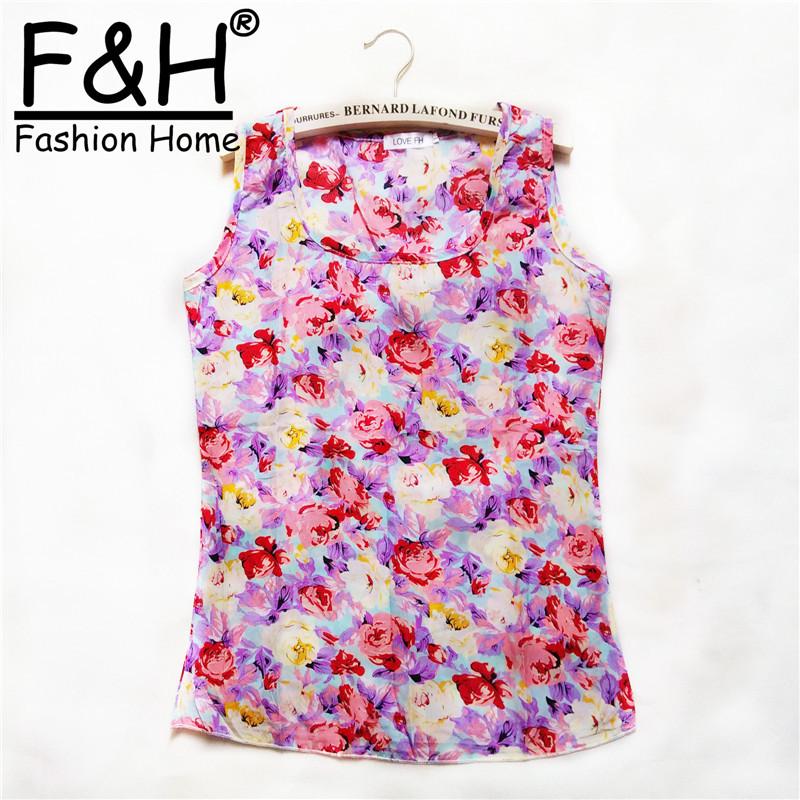 10 style Clothing Women 2015 Fashion Blouses Blusas Femininas Print Summer Roupas Body Tops Vest Tropical Female Blouse Shirt(China (Mainland))