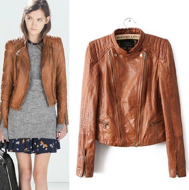 Faux leather jacket brown – Modern fashion jacket photo blog