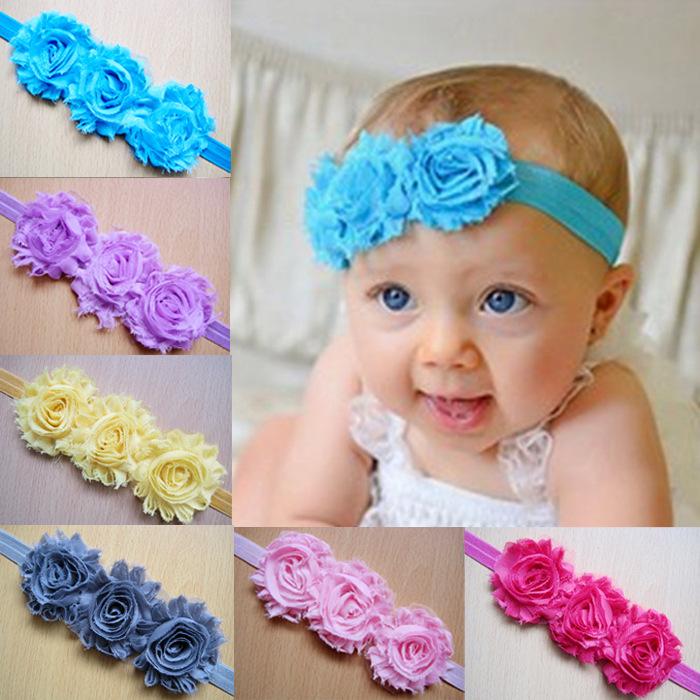 2015 vinchas para bebé recién nacido accesorios del pelo de las vendas de la tiara venda de la flor bebes tiaraH6 en Accesorios para Cabello de La madre y