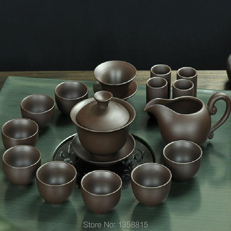 Drinkware Coffee Tea Sets Yixing Purple Clay TeaPot Tea Cup Black Purple Gaiwan Kettle Coffee Pot
