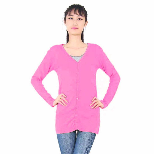 New Fashion Women's long-sleeve cardigan sweater Slim  suit coat solid color free size 5367