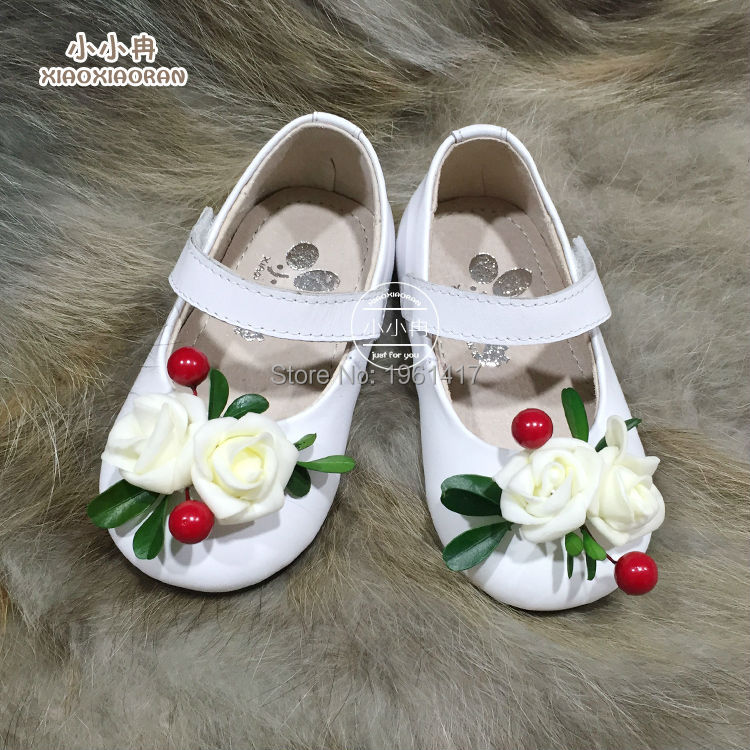2015 Beautiful Quality Children Girls Dress Shoes Princess Leather Handmade - My store