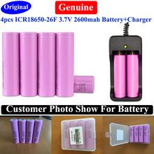 4PCS/lot 100% Original Real capacity 18650 Battery For Samsung ICR18650-26F 2600mah 3.7V rechargeable li-ion Battery(China (Mainland))