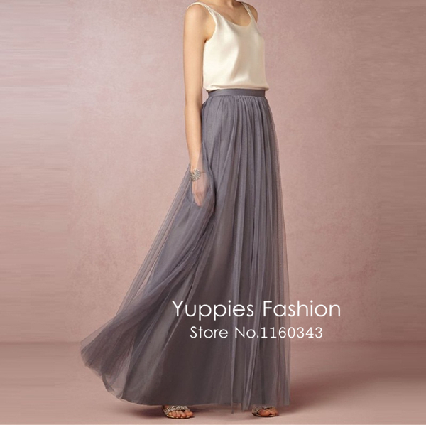 3 layers maxi long skirt soft tulle skirts wedding for How to make a long tulle skirt for wedding dress
