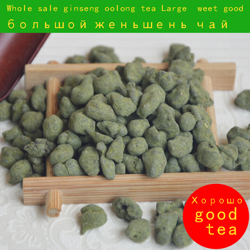 good Large particles Ginseng tea 250g Sweet * Premium Organic Green Ginseng Oolong Taiwan good quality Real picture freeshipping(China (Mainland))