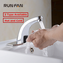 Battery Power Automatic Infrared Sensor Faucet for bathroom Sink water saving Inductive electric Water Tap mixer Free touchless