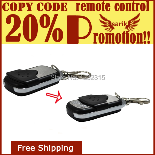 5pcs/lot 433.92mhz universal copy remote control duplicator 4 channel Copy Code Remote cloning garage door opener free shipping(China (Mainland))