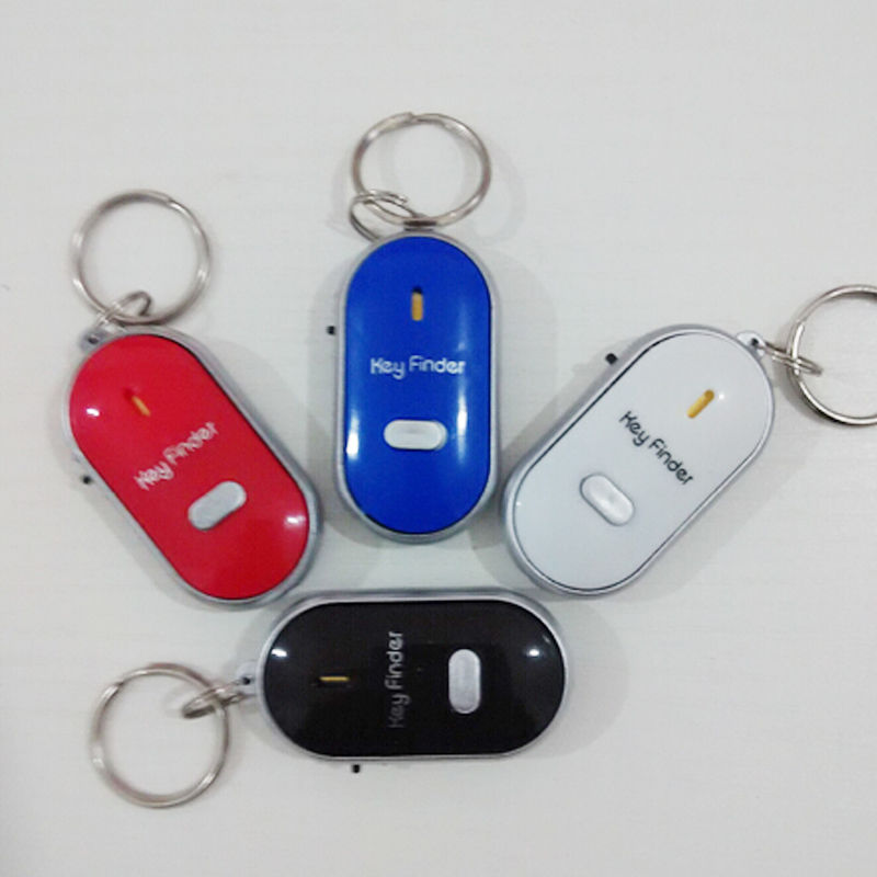 Whistle Sound Control LED Seeker Alarm Locator Tracker Lost Keys Finder Keychain(China (Mainland))