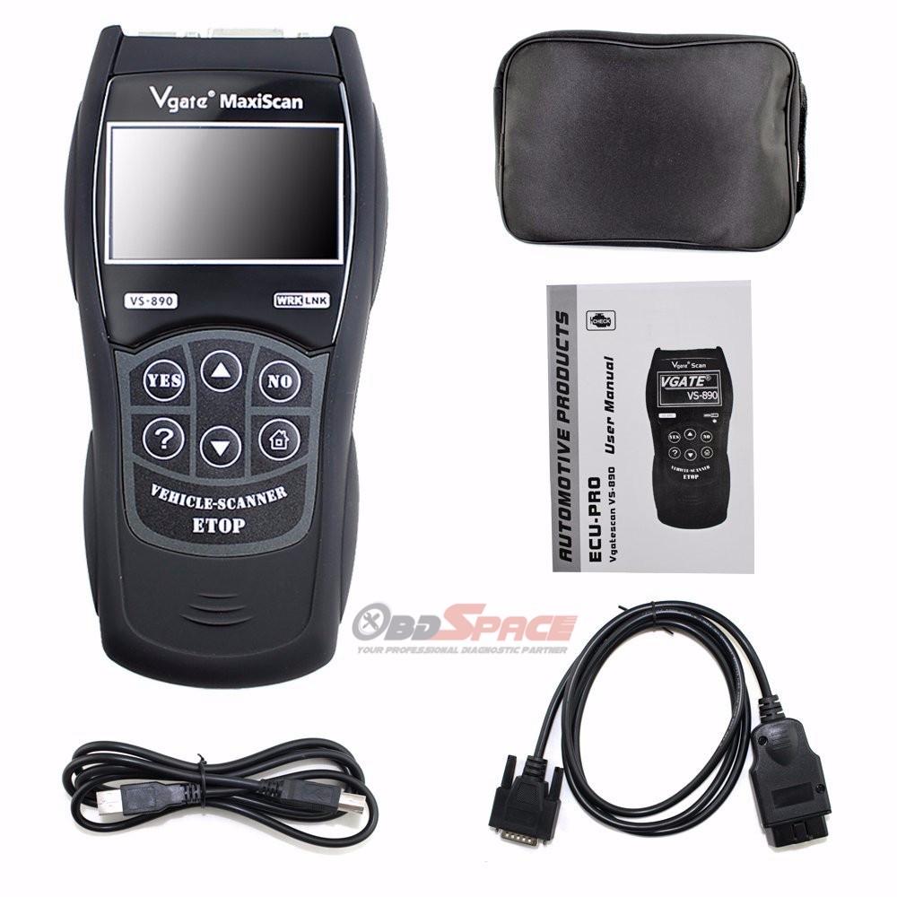 Купить 2016 OBD2 Автомобильный Сканер Vgate Maxiscan VS890 Неисправностей Code Reader CAN-BUS EOBD JOBD многоязычная Сканер для Диагностики Автомобилей