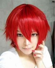 Harajuku Anime Tokyo Ghoul Wig Cosplay Short Straight Heat Resistant  Synthetic Hair Wig/Wigs For Japanese Anime 12 Colors(China (Mainland))