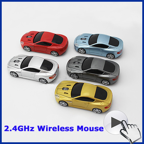 Free shipping professional optical mouse sem fio fashion super wireless mouse car 2.4G for computer(China (Mainland))