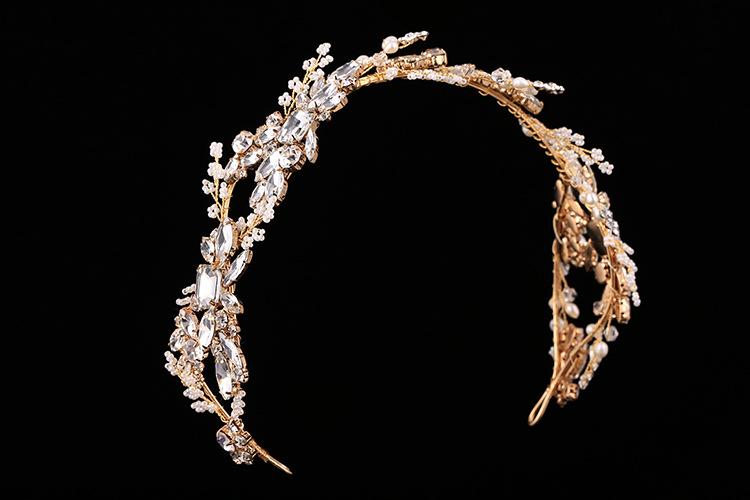 2016 барокко корона золото / серебро ручной горный хрусталь повязка на голову старинные свадебные аксессуары для волос головные уборы аксессуары корона и тиара