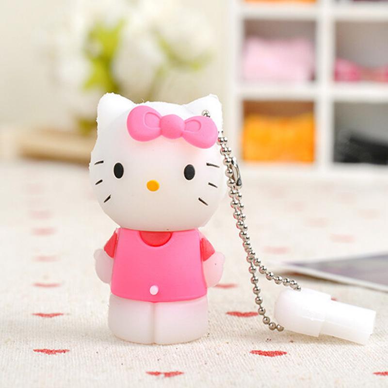 Full Capacity Cartoon Hello Kitty USB Flash Drive 4GB 8GB 16GB 32GB 64GB Pen Drive Gift USB Flash Disk stick USB flash drive(China (Mainland))