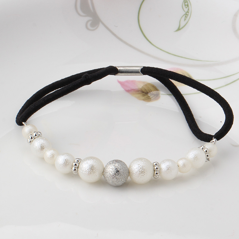 New Hair Accessories Circle Pearl Beads Hair Rope Scrunchie Ponytail Hair Holder Elastic Hair Ornaments Hairband For Women(China (Mainland))