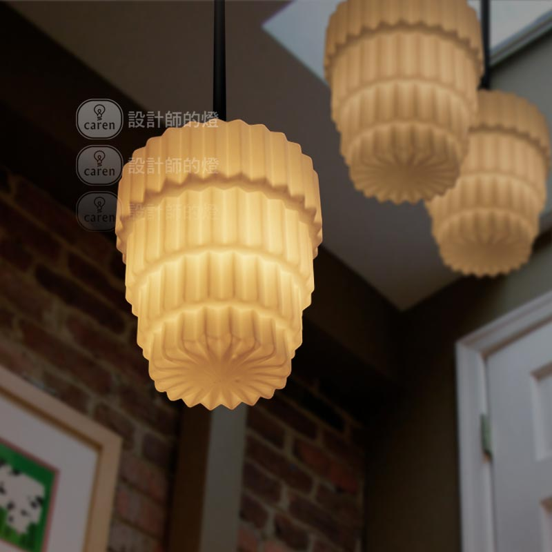 Art deco decoration cream cake pendant light inpendant for Art deco cake decoration